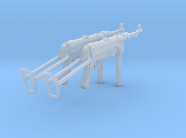 MP40 (unfolded) (1:18 scale) in Smooth Fine Detail Plastic: 1:16