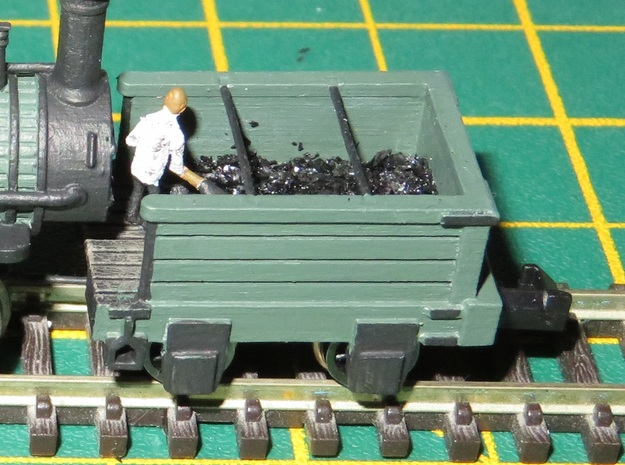 N Gauge Derwent Coal Tender Scratch Aid in Smooth Fine Detail Plastic