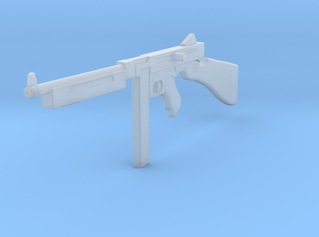 1:6 Miniature Thompson SMG in Smooth Fine Detail Plastic