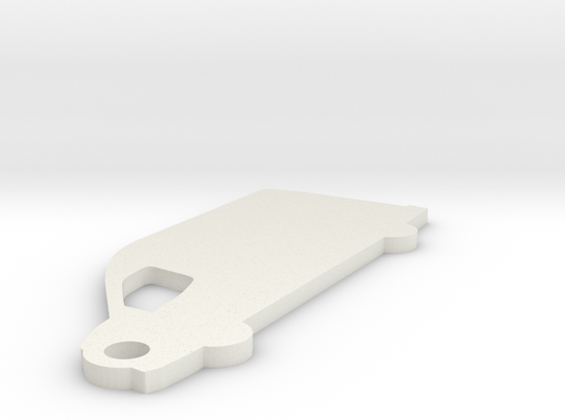 Ford Transit Cargo Keychain in White Natural Versatile Plastic