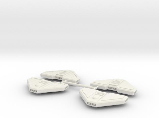 1/1000 Torpedo Pods-all 4 styles in White Premium Versatile Plastic