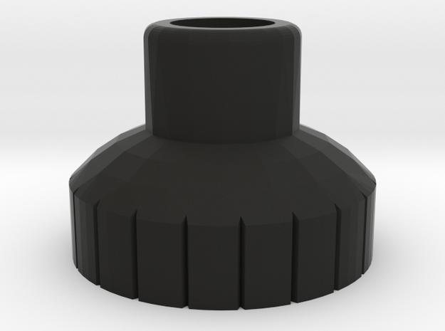 PRNT3D 4mm Bottle Nip [Long] in Black Natural Versatile Plastic