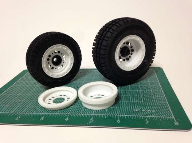FA30008 Beadlock Style Wheel covers (SET OF 4) 3d printed PLEASE NOTE: Only White part included, other parts sold separately (tamiya Rough Rider wheels & tires)