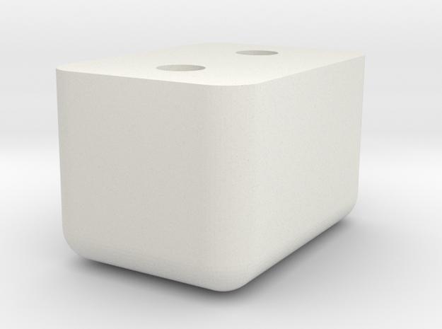 08.01.03.03.02 Mixture Control Handle Knob in White Natural Versatile Plastic