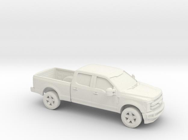 1/72 2017 Ford F 350 Crew Cab Regular Bed in White Natural Versatile Plastic