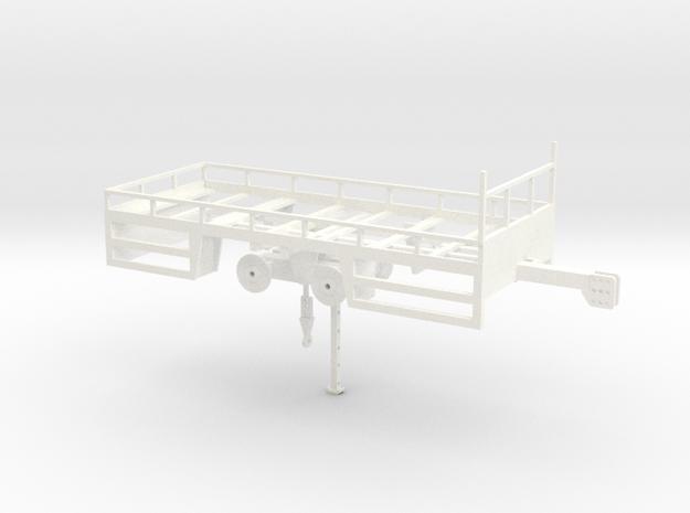 Bakkenwagen 2 assen 1:50 in White Processed Versatile Plastic