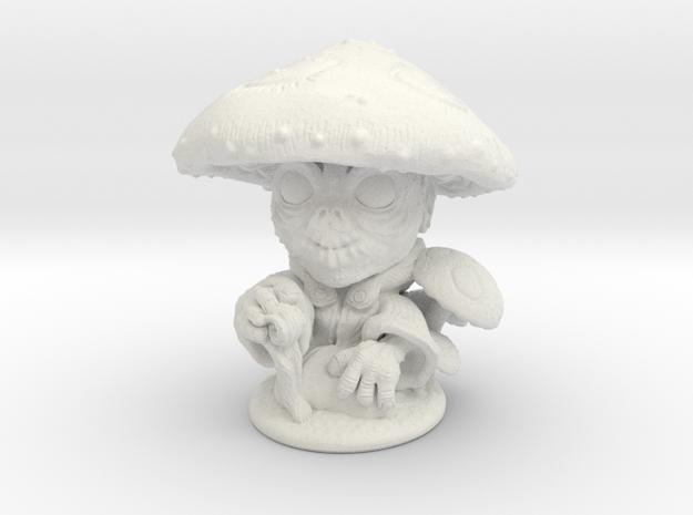 Forest Gnome 28mm in White Natural Versatile Plastic