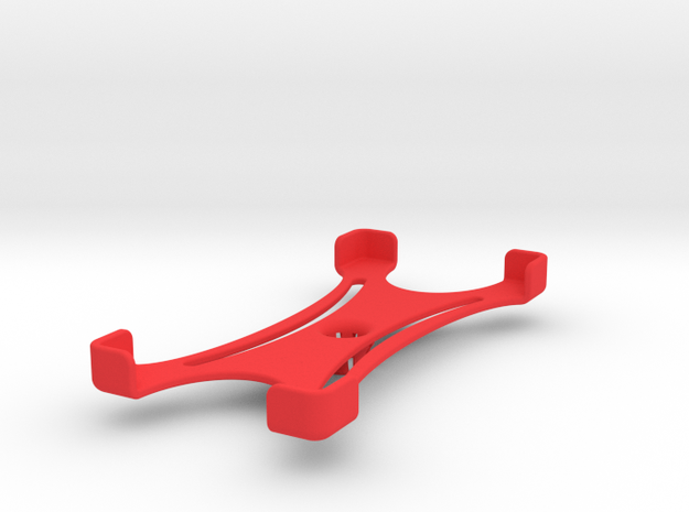 Platform (159 x 76 mm) in Red Processed Versatile Plastic
