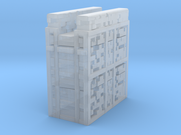 Glacier City Wall in Smooth Fine Detail Plastic: 1:300