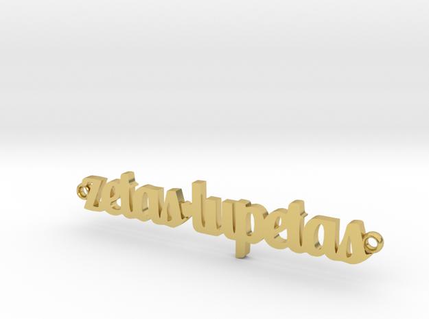 zetas lupetas in Polished Brass
