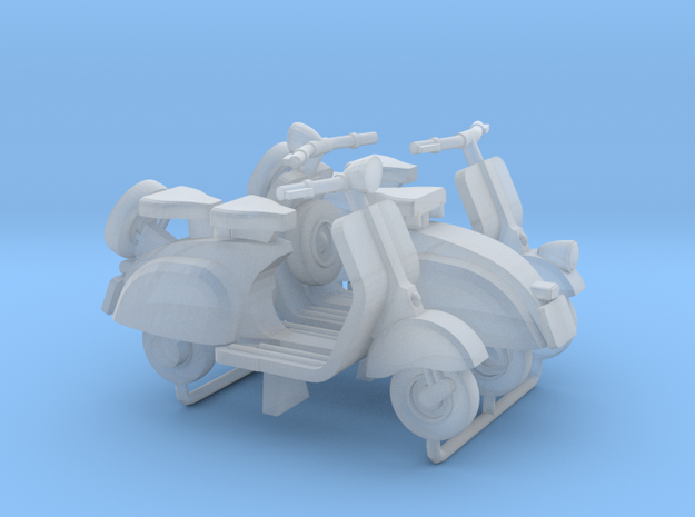 1:72 Vespa Scooter (x3) in Smooth Fine Detail Plastic