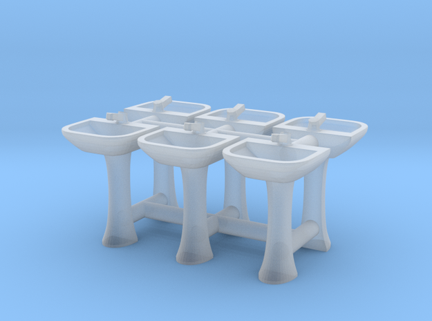 Sink 01. 1:150 Scale in Smooth Fine Detail Plastic