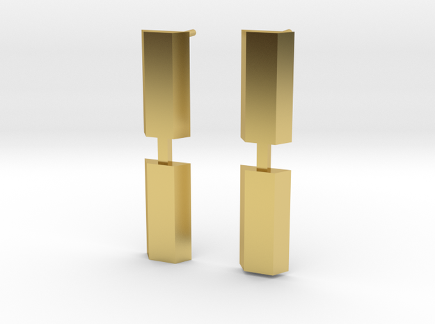 GRACE-FO Spacecraft earrings in Polished Brass