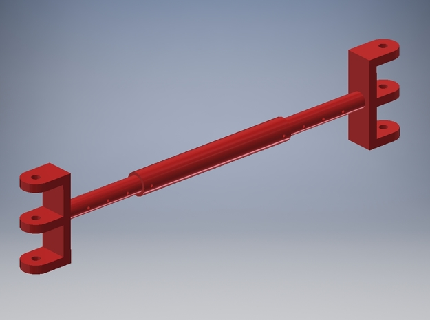 Pendant rope spreader for TWH Manitowoc 4100 in Red Processed Versatile Plastic
