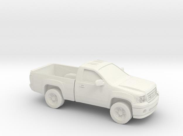 1/64 2008-14 GMC Sierra Regular Cab Reg Bed in White Natural Versatile Plastic