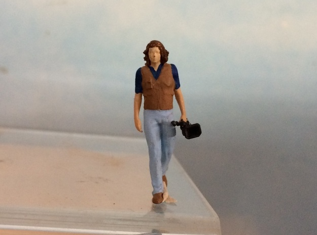 Video Cameraman Carrying in Smoothest Fine Detail Plastic: 1:64 - S