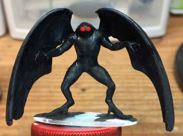 MothMan in Smooth Fine Detail Plastic: 1:64 - S