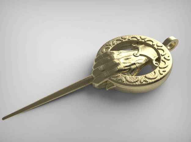 Hand of the King Keychain- Game of Thrones in Polished Gold Steel