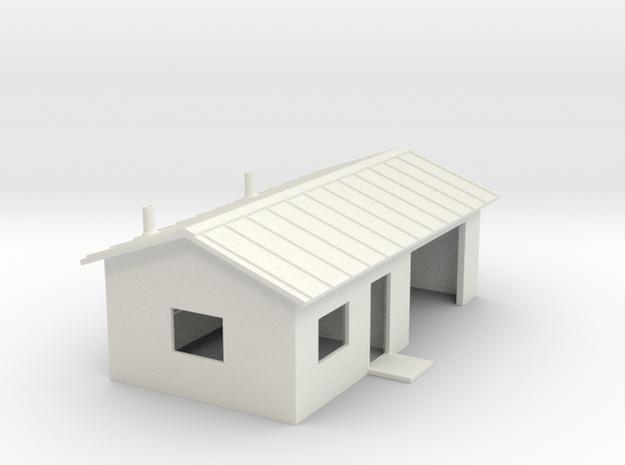 Shop Building in White Natural Versatile Plastic: 1:87 - HO