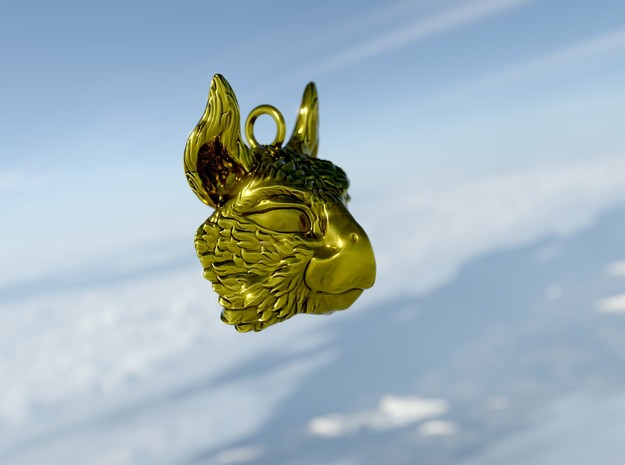 Gryphon Soul Pedant in 14k Gold Plated Brass