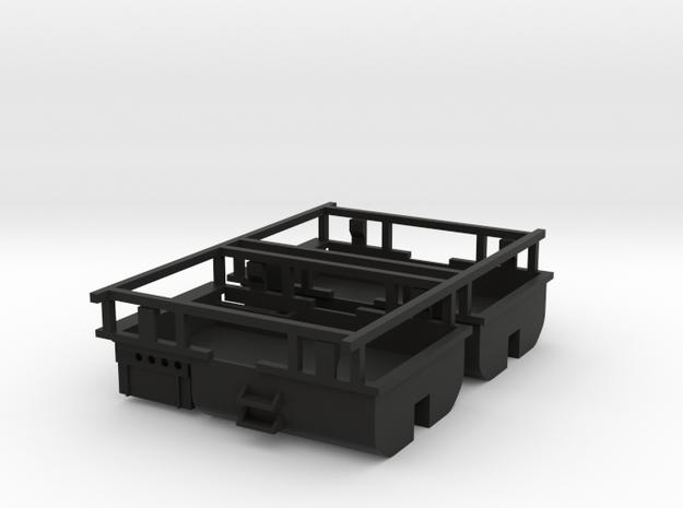 2 pieces reservoir et coffre a batterie cabinne fl in Black Natural Versatile Plastic: 1:87 - HO