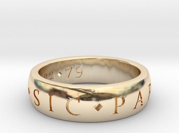 Engagement custom in 14K Yellow Gold
