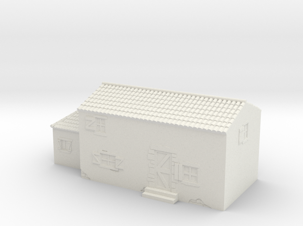 Italian style house 1/87 in White Natural Versatile Plastic