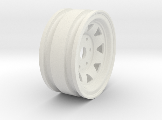 "1.7"" Stock Steelie Wheel in White Natural Versatile Plastic"