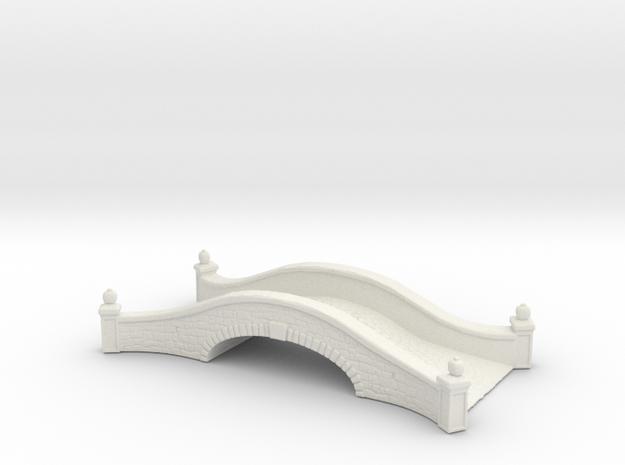 Stone road bridge 1/120 in White Natural Versatile Plastic