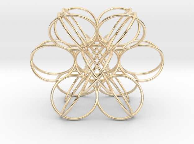 Tao radiation Source in 14k Gold Plated Brass