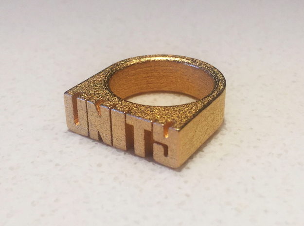 19.8mm Replica Rick James 'Unity' Ring in Polished Gold Steel