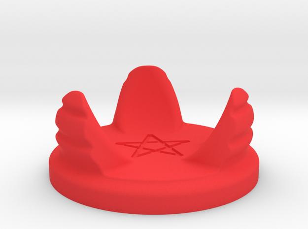 Hourglass base (demonic version) in Red Processed Versatile Plastic