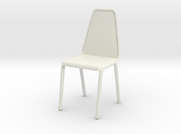 1:24 Vinyl Stacking Chair in White Natural Versatile Plastic: 1:24