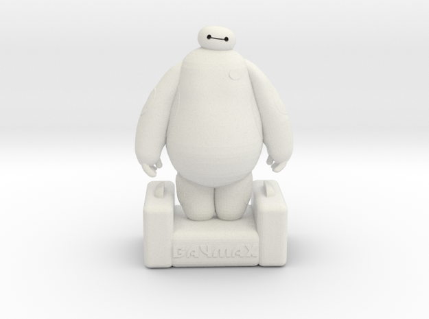 Baymax - Big Hero 6 in White Natural Versatile Plastic