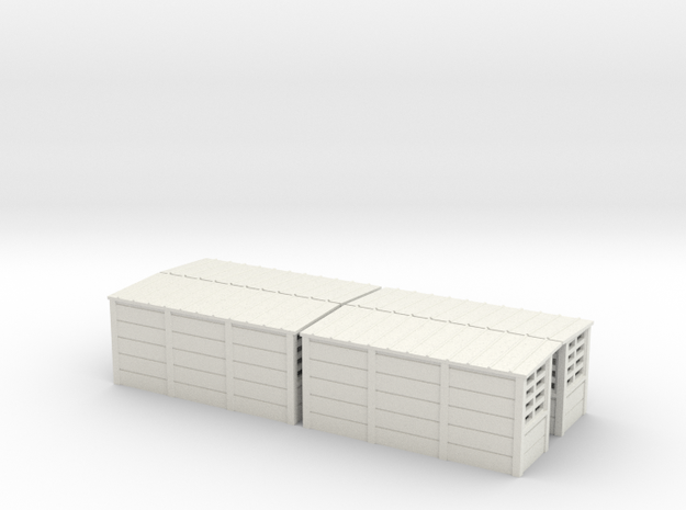 abris quais beton SNCB MNSB TT 4 pieces in White Natural Versatile Plastic: 1:120 - TT