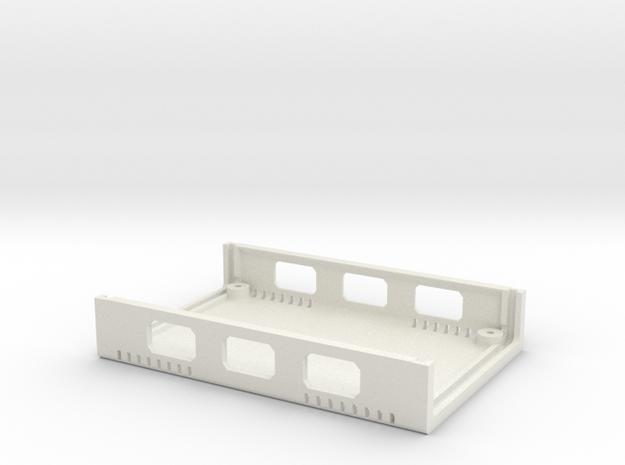 USB Sidecar for MiSTer XS Case Bottom (1/2) (v1.2) in White Natural Versatile Plastic