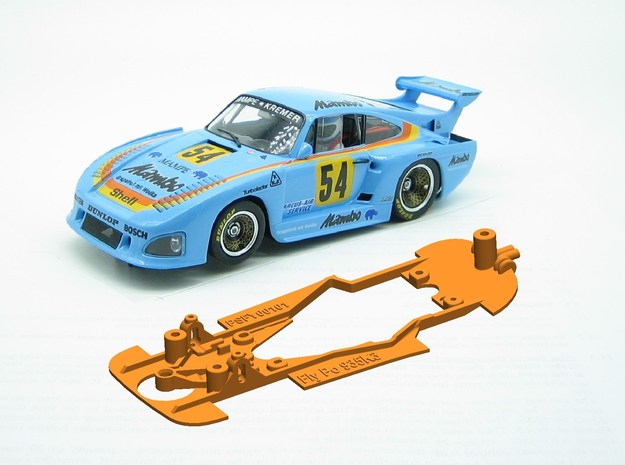 PSFY00101 Chassis for Fly Porsche 935 K3 in White Natural Versatile Plastic