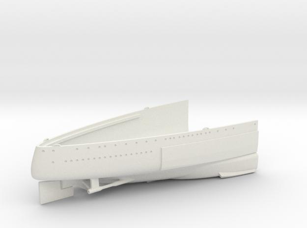 1/350 1919 US Small Battleship Design A7 Stern in White Natural Versatile Plastic