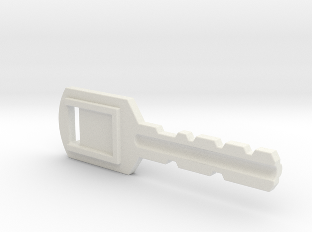 Resident Evil Backdoor Key in White Natural Versatile Plastic