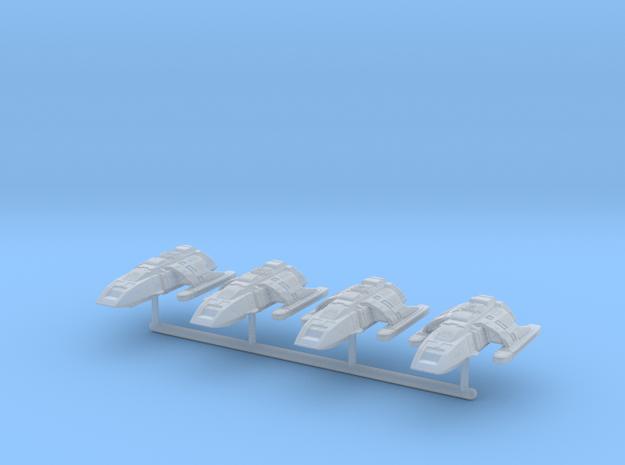 1/1000 Run-Around Shuttle 4pk in Smooth Fine Detail Plastic