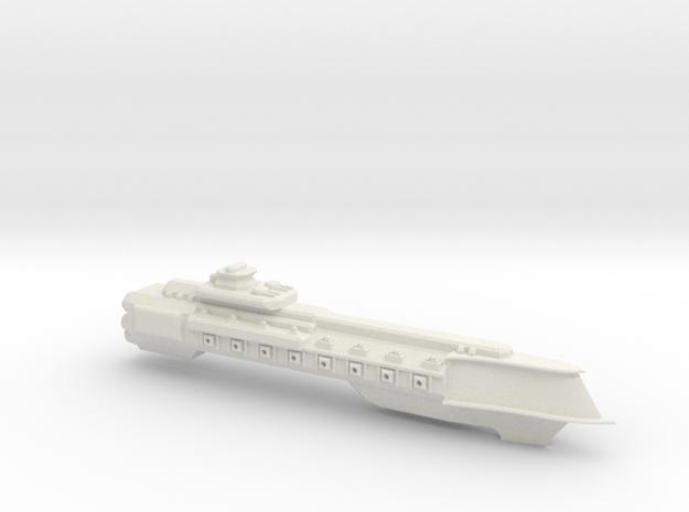 Bellerophon Class Cruiser in White Natural Versatile Plastic