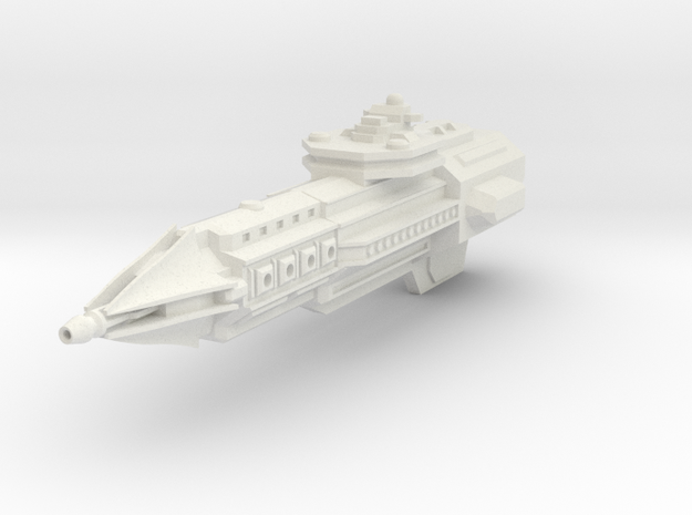 Dominion Class Heavy Cruiser - With positional tur in White Natural Versatile Plastic