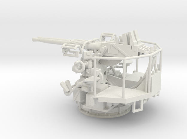 1/48  40mm Bofors Twin Mount USN WWII ships in White Natural Versatile Plastic