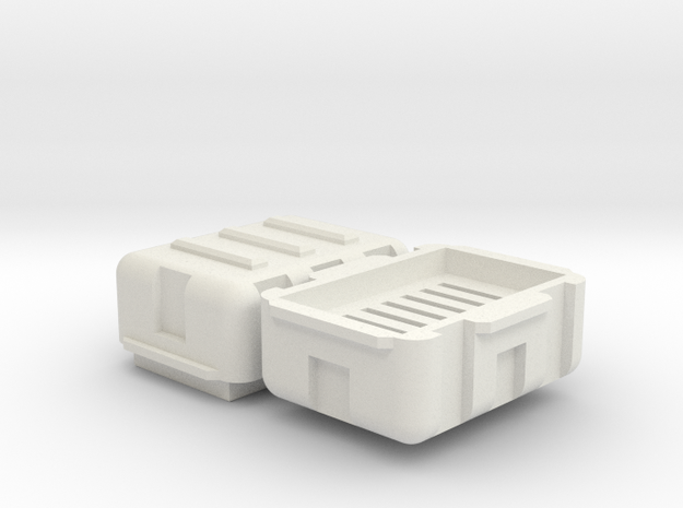 Micro SD Storage Hard Case in White Natural Versatile Plastic
