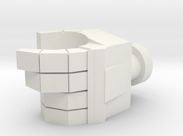 Deluxe Scale Left Hand (Mushroom Peg) in White Premium Versatile Plastic