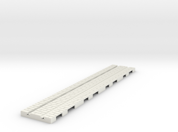p-14st-straight-tram-long-1a in White Natural Versatile Plastic