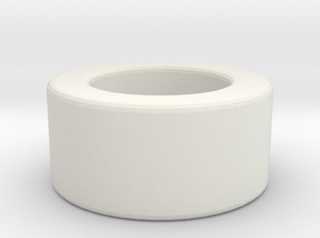 1:1 Apollo RCS Oxidizer Solenoid Attach Spacer in White Natural Versatile Plastic