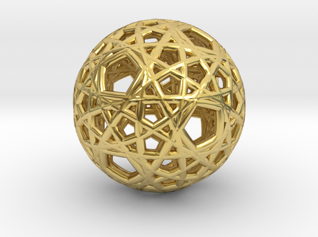 Malek Tous Quantum Light in Polished Brass