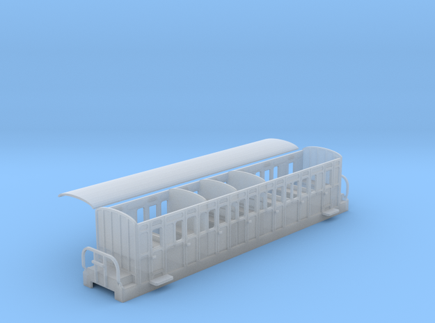 Ffestiniog Rly compartment comp coach NO.16 in Smooth Fine Detail Plastic