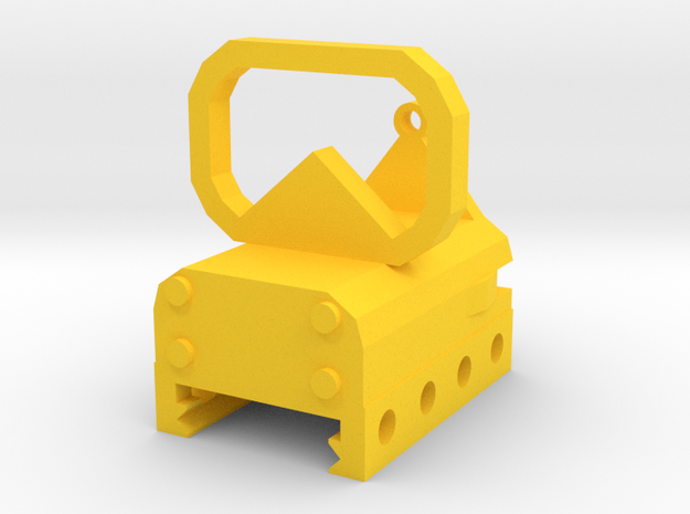 Tactical Reflex Sight for Picatinny Rail in Yellow Processed Versatile Plastic